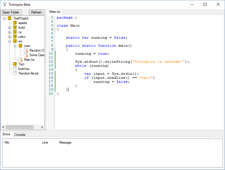 Twinspire A Free And Open Source Editor For Haxe Devs